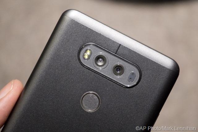 Lensa kamera ganda LG V20