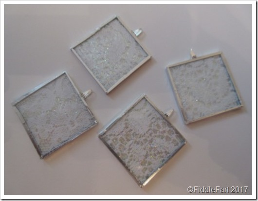 microscope slide memory glass lace tree decorations