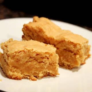 White Chocolate Peanut Butter Cake Batter Bars.