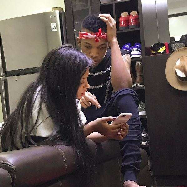 Tekno Shares Glimpse Photo Of Himself Cuddling Newborn Daughter Skye