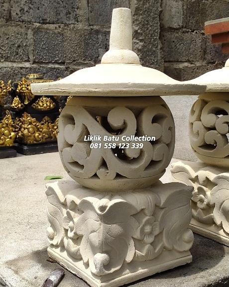 Tempat Lampu Taman Liklik Batu Collection Pengrajin Patung Batu