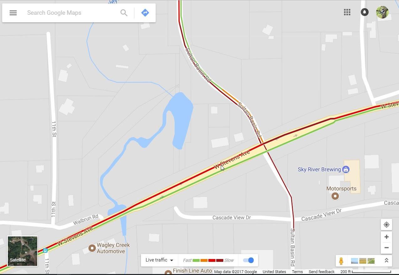 Google Maps app no longer showing two way traffic