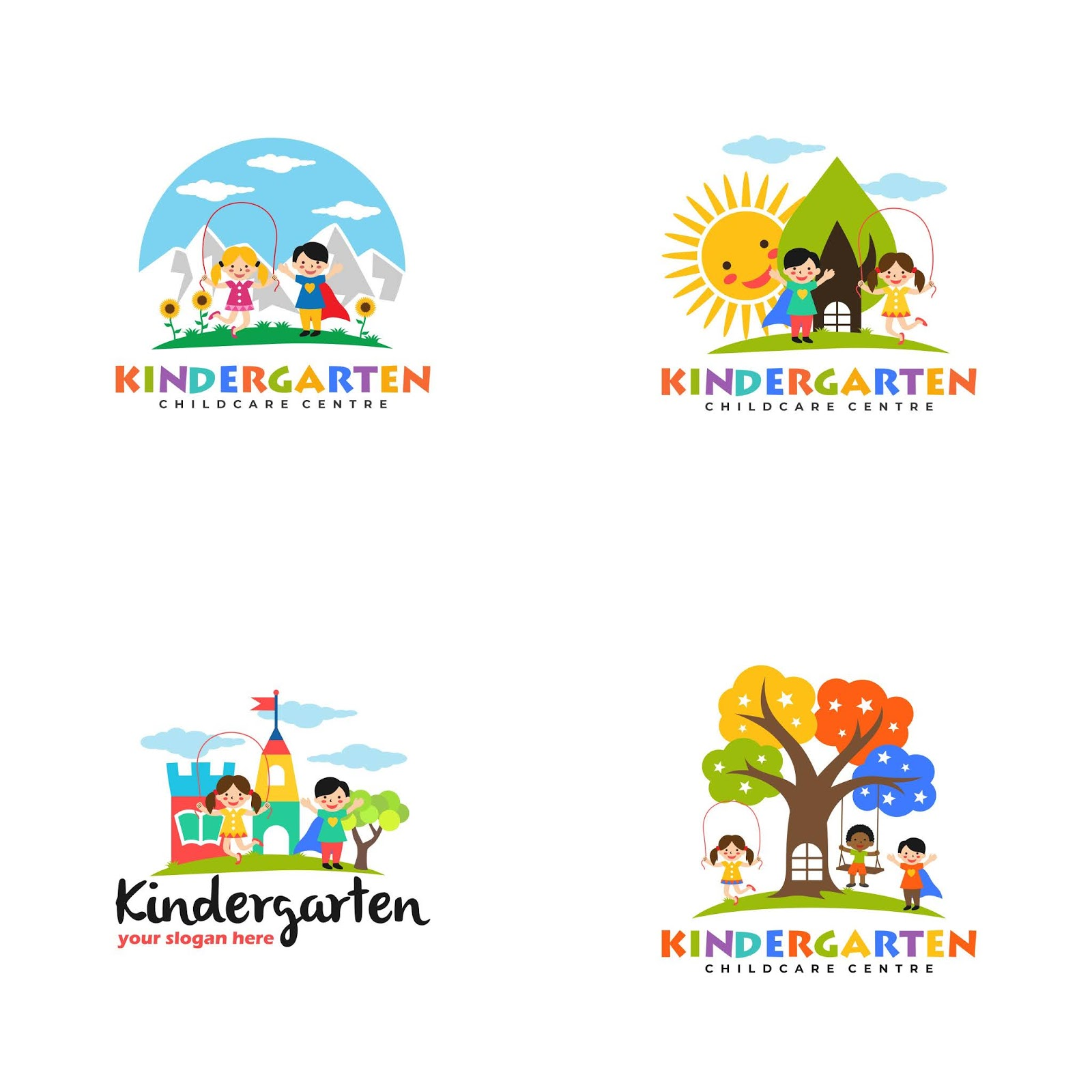 Kindergarten Logo Free Download Vector CDR, AI, EPS and PNG Formats