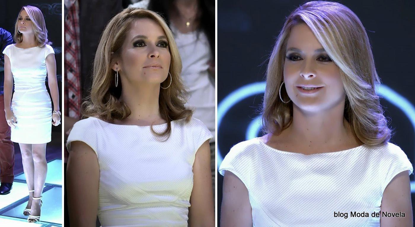 moda da novela Geração Brasil - look da Pamela com vestido branco dia 3 de julho
