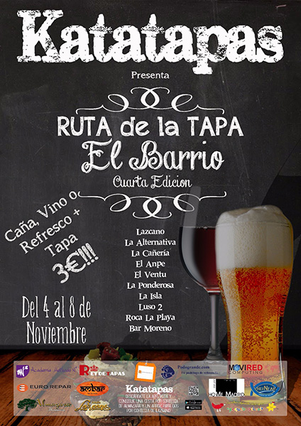 Ruta de la Tapa 'El Barrio' hasta el lunes 9 de noviembre