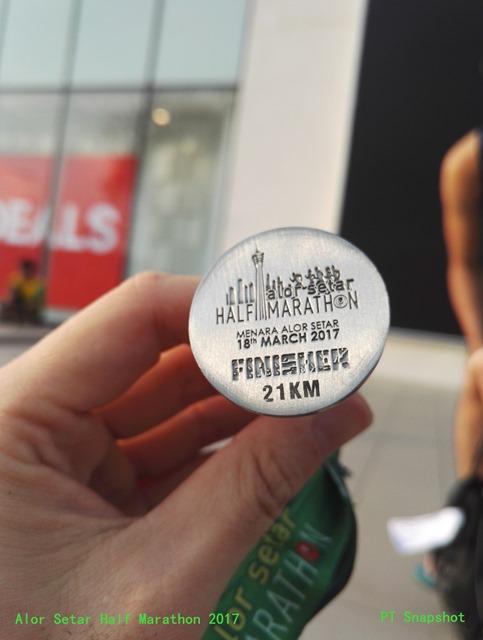 Alor Setar Half Marathon 2017 finisher medal