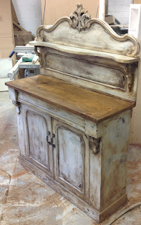 251j - Vintage painted wooden decorative unit £265.00
