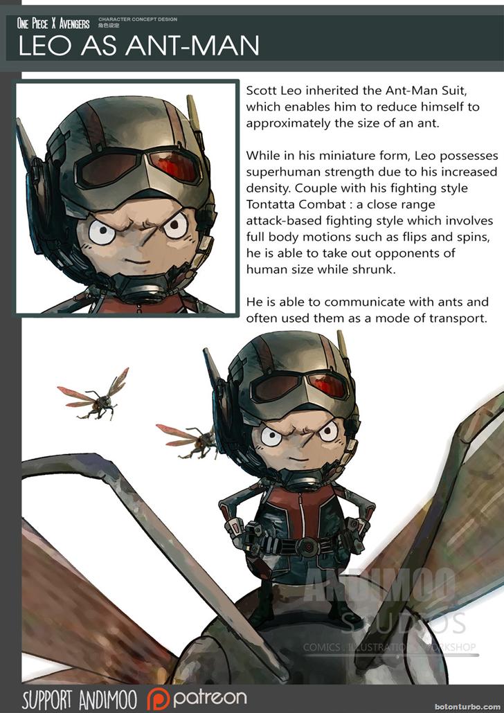 Leo como el Hombre Hormiga (Ant-man)