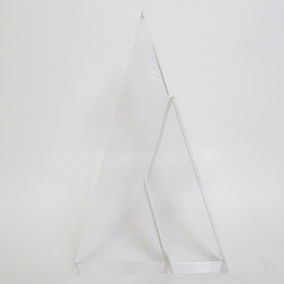 Modernist Lucite Two-Piece Sculpture
