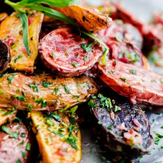 Roasted Fingerling Potatoes with Tarragon-Shallot Butter Recipe
