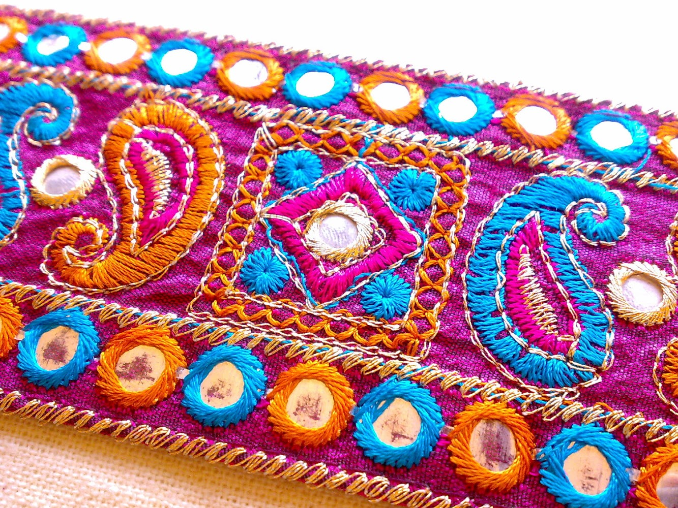 Hand Embroidery - textile creative holiday to India