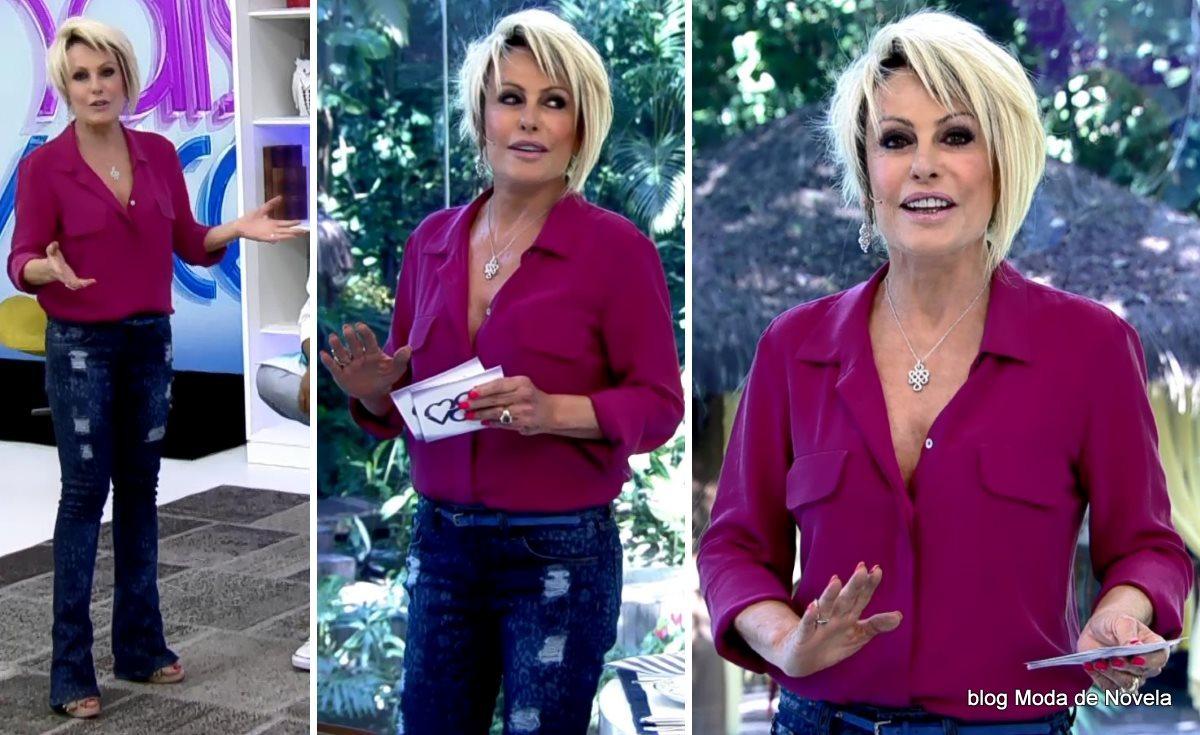 moda do programa Mais Você - look da Ana Maria Braga dia 25 de agosto