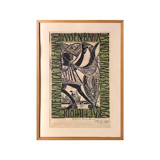 Karl Heinz Hansen-Bahia Signed Woodblock Print