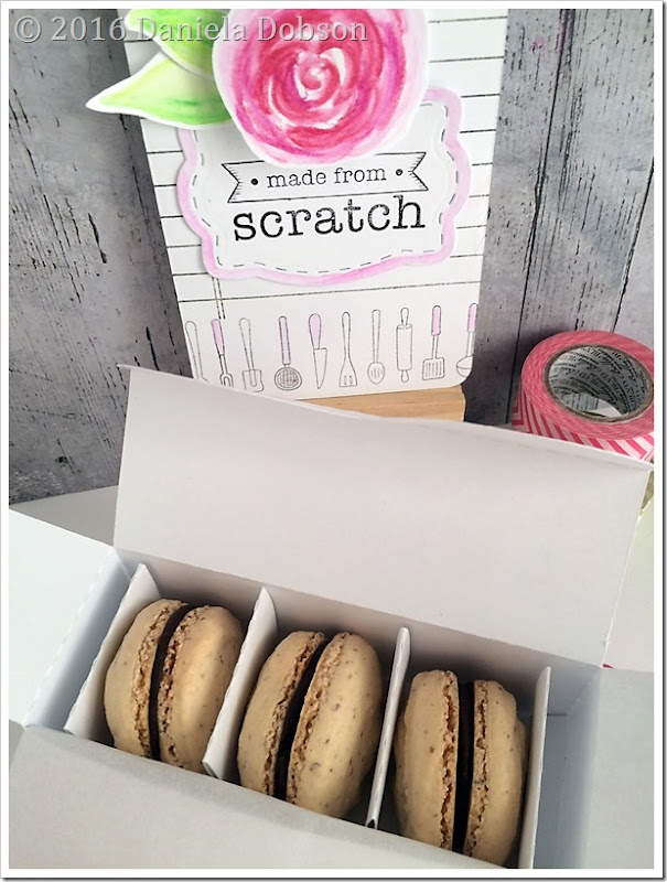 Happiness box macarons by Daniela Dobson