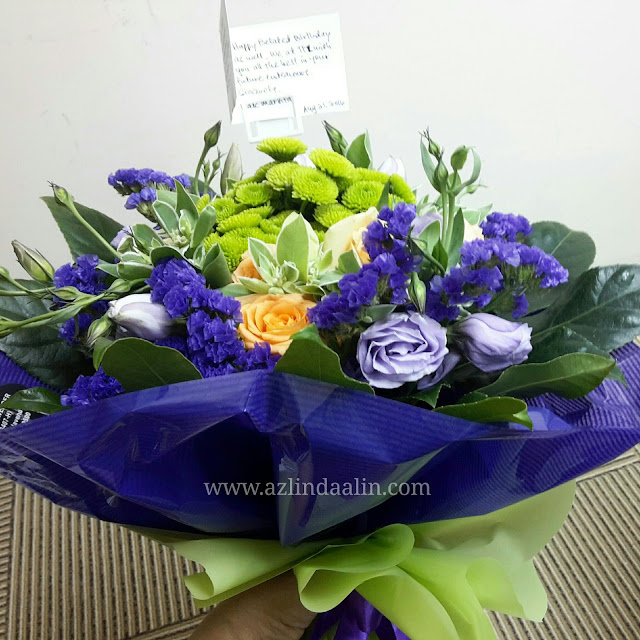 Hadiah Birthday Azlinda Alin dari Kedai Bunga Fresh Flower The Purple Lavender