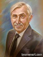 Портрет цветной, выполнен пастелью по тонированной бумаге, размер 50Х60 см,