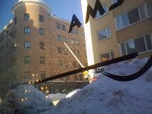 snöigt utanför Q