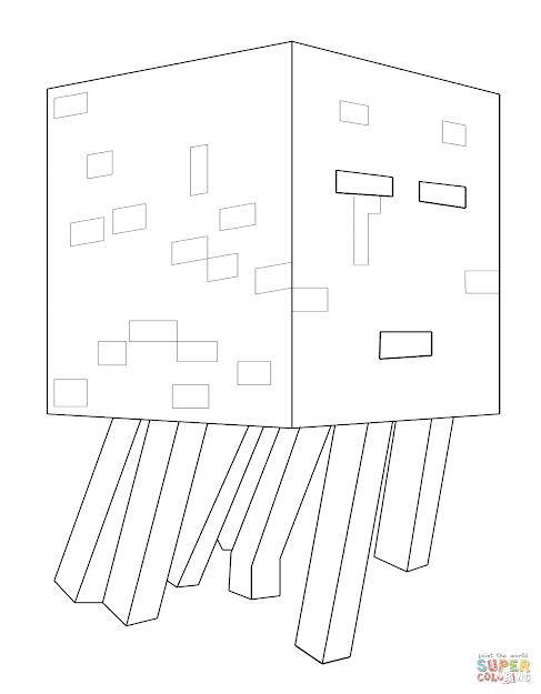 Click The Minecraft Ghast Coloring Pages To View Printable Version Or Color  It Online Patible With Ipad And Android Tablets