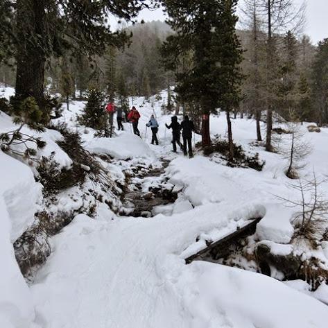 Hauswanderung Schneeschuhwanderung im martelltal Zufallhütte im Januar 2015 Schulerhof