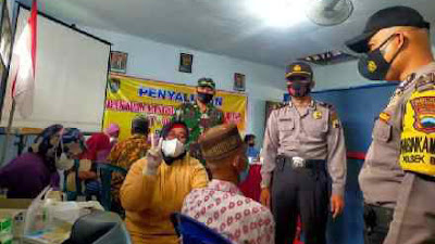 Polsek dan Koramil di Purworejo Kawal Sebaran Vaksinasi Sampai ke Desa
