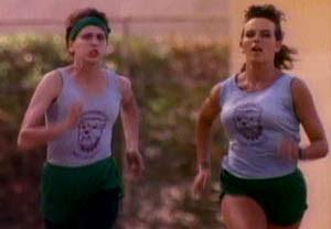 Lori Petty as a runner