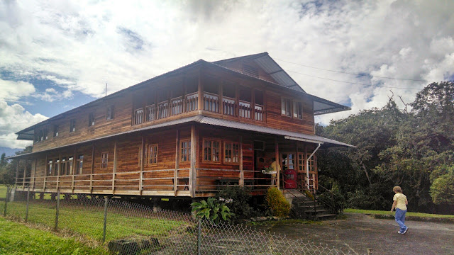 """The house of Nate Saint in Shell Mera, Ecuador, the building that served as the airport and planning station for """"Operation Auca,"""" the Huaorani people's first contact with gospel."""