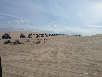 Jeep Parade across the sand