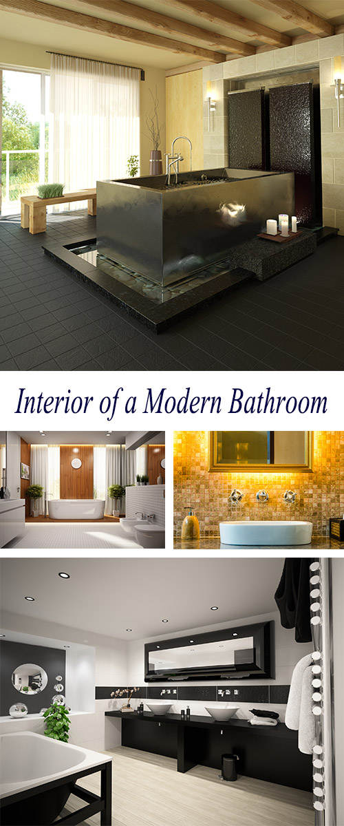 Stock Photo: Beautiful Interior of a Modern Bathroom 2