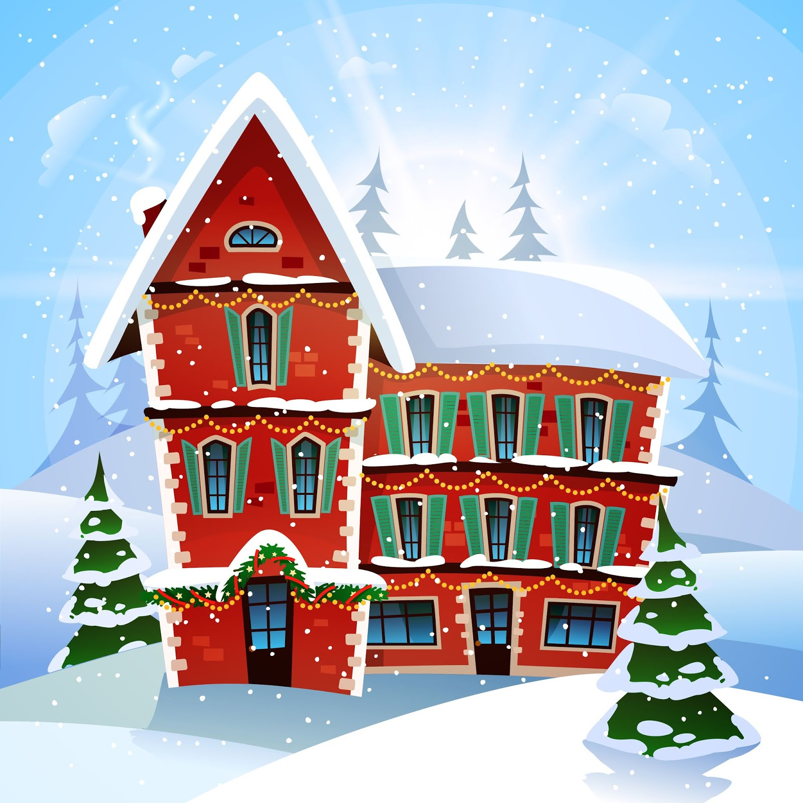 Christmas Vector Illustration Free Download Vector CDR, AI, EPS and PNG Formats