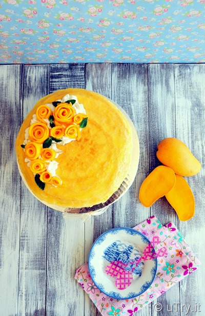 How to Make Mango Crêpe Cakes 芒果法式薄餅千層蛋糕 with step-by-step video tutorial.  http://uTry.it