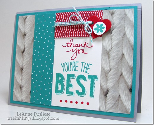 LeAnne Pugliese WeeInklings Thank You Card Friendly Wishes Stampin Up