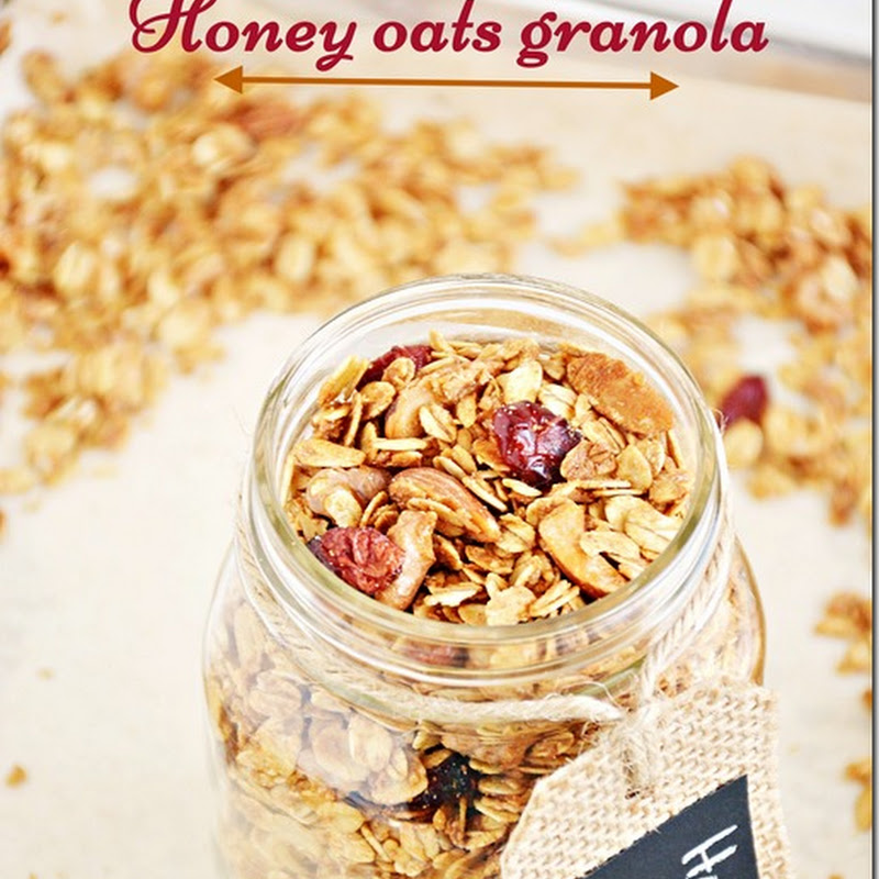 Honey oats granola