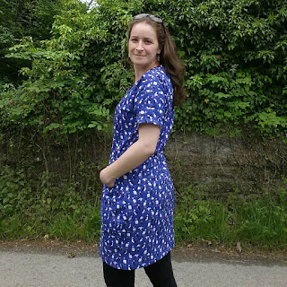 Bettine dress in Puffin Fabric by Alice Draws The Line