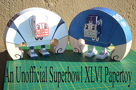 Super Bowl XLVI Paper Toy