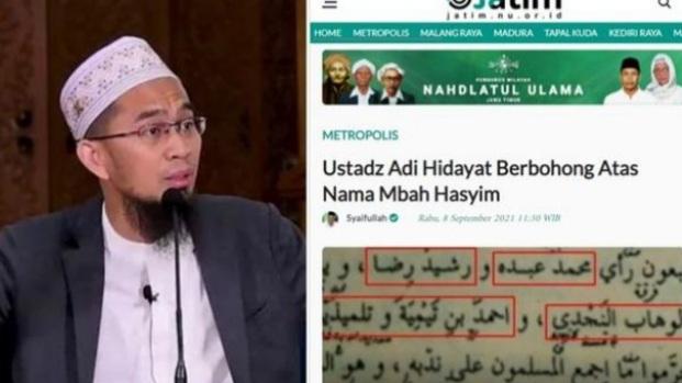 Dibongkar Warganet, Ustadz Adi Hidayat Berbohong Atas Nama Mbah Hasyim