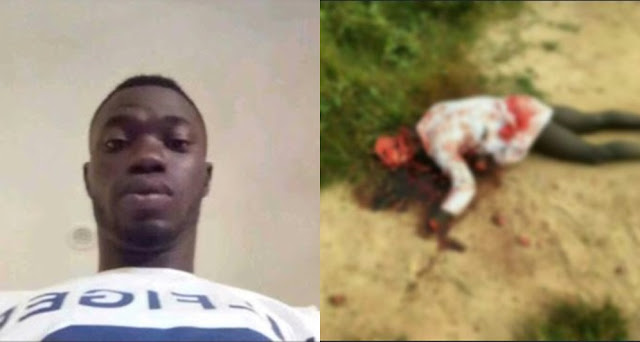Cult Member Butchered To Death In Ekiti State University (Photos)