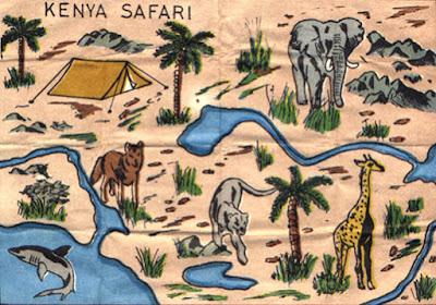 mapa Madelman Kenya Safari