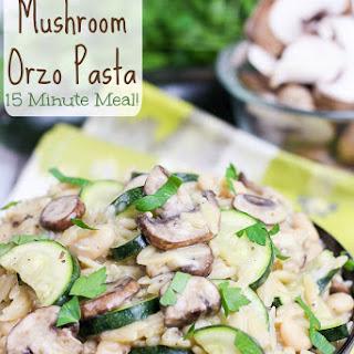 15 Minute One Pot Mushroom Orzo Pasta