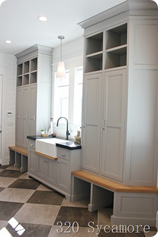 mudroom modern grey