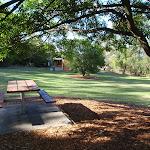 Picnic table in shade at Honeman's Picnic Area (233139)
