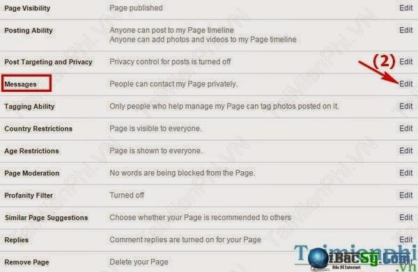 Hình 3- Chặn tin nhắn facebook