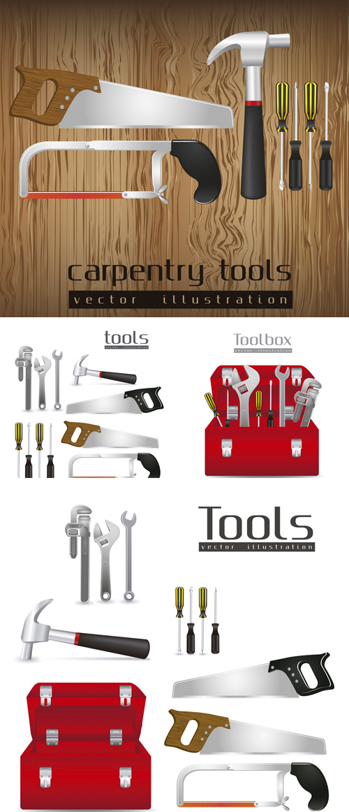 Stock: Illustration of tools
