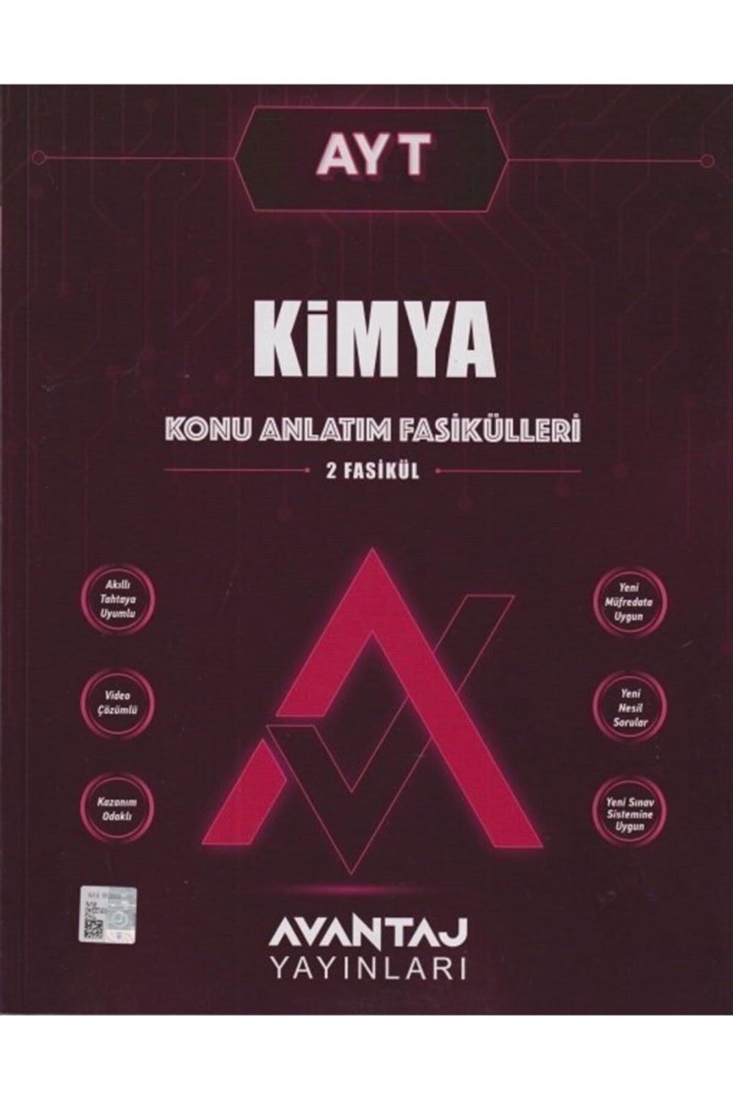 Avantaj Yayınları - AYT Kimya - Konu Anlatım Fasikülleri