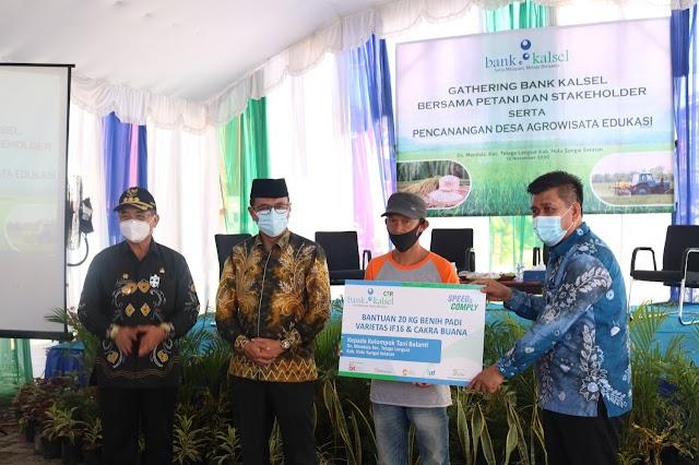 Kunjungi Telaga Langsat, Bank Kalsel Komitmen Dukung Kebutuhan Permodalan Petani
