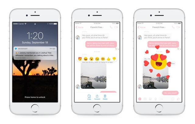 Tính năng Reactions và Mentions trong Facebook Messenger