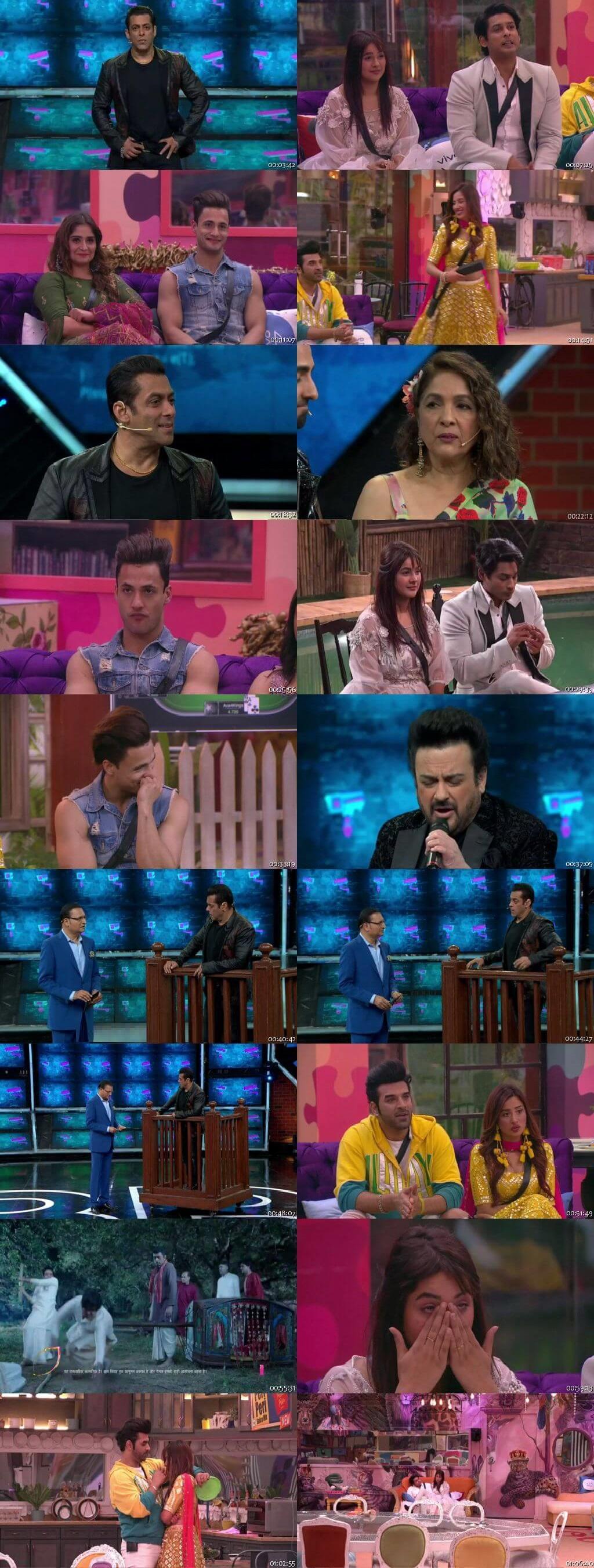 Screenshots Of Hindi Show Bigg Boss 13 10th February 2020 Episode 133 300MB 480P HD