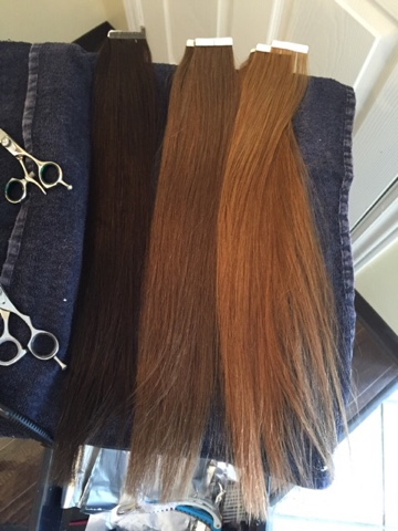 Hollys housewife life babe hair extensions the good bad and ugly through the work of dying before applying luckily they had a large colour selection if you wanted a pop of colour via extension these extensions come pmusecretfo Images