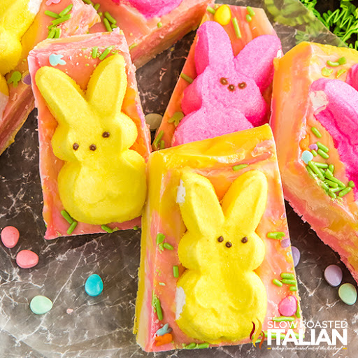 Easter Peeps Marshmallow Fudge