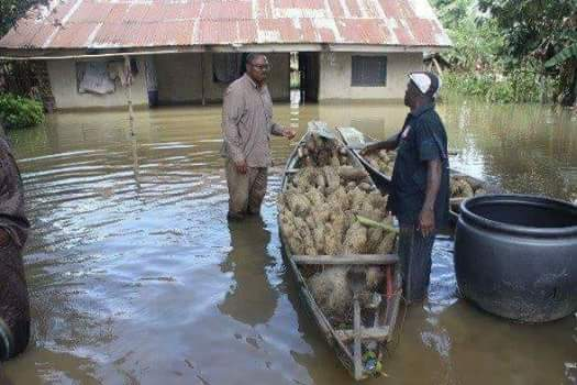 Former governor of Anambra State Peter obi pictured inside A pond