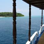 MV Sea Spirit voor een eiland